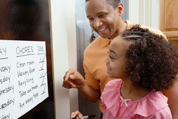 Clinicians should advise the parents of children with ADHD to create well-structured routines at home to help their kids stay on task. Schedules should including specific times for waking up, eating, playing, homework, chores, activities and bedtime.