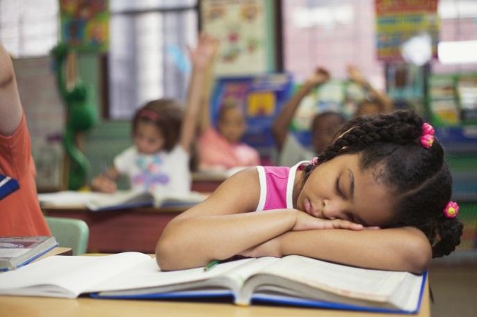 child sleep school