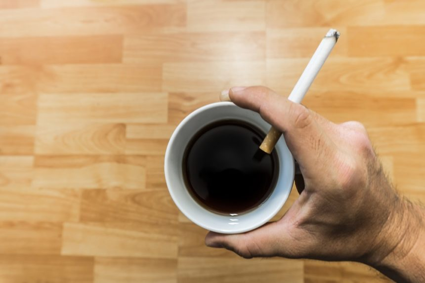 coffee and cigarette