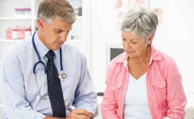 doctor older woman patient