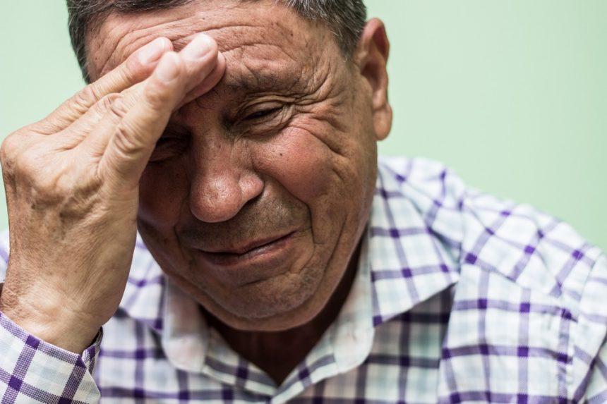 older man sad