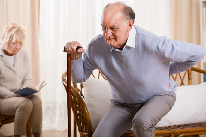 man in pain parkinson's