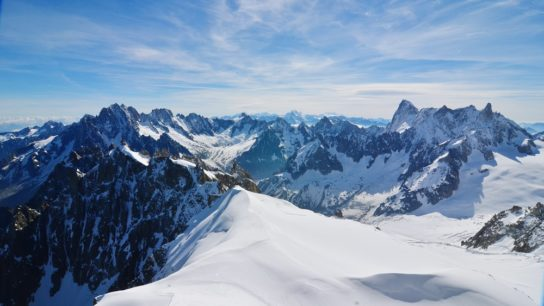 Swiss alps with snow on top