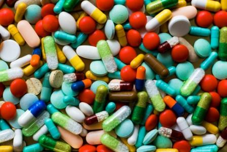 array of colorful pills