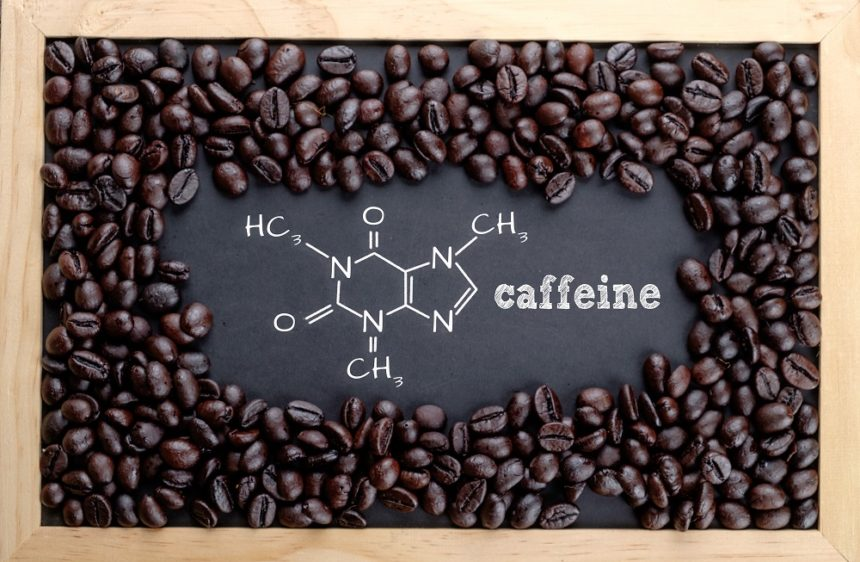 coffee beans and molecular structure