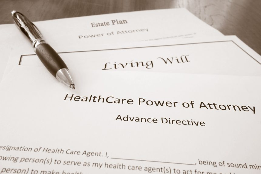 power of attorney form, living will