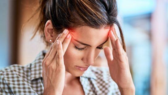 woman with headache, migraine