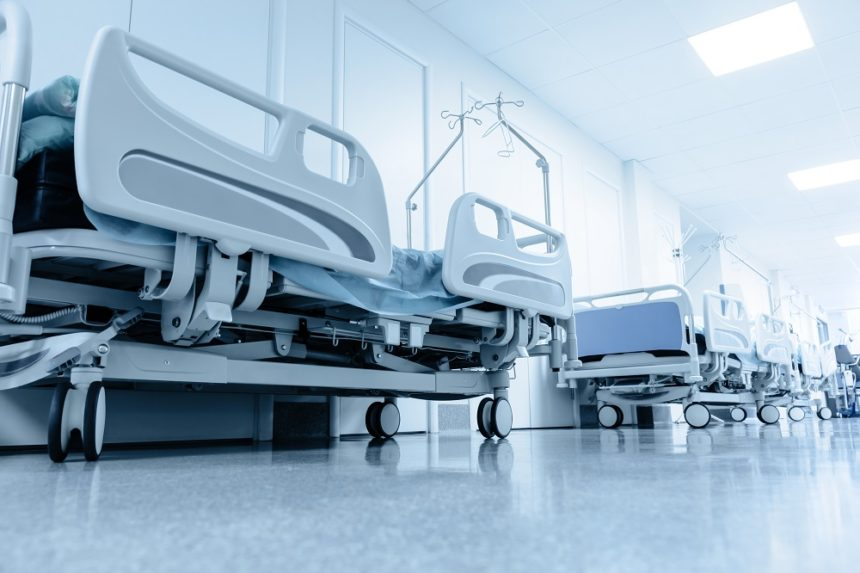 hospital beds in the hospital hallway