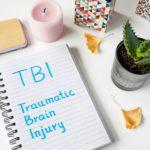 Traumatic Brain Injury (TBI) written on notepad