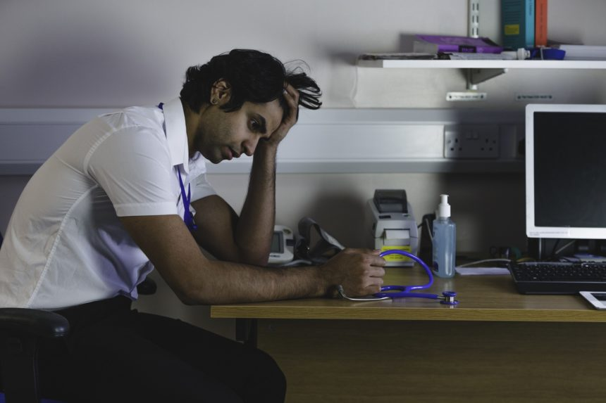 stressed out medical student