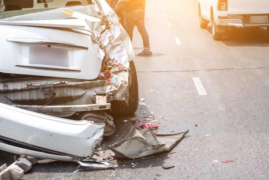 car accident on a city street
